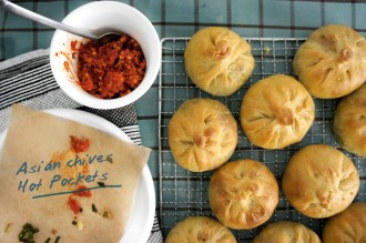 Asian chives knish featured