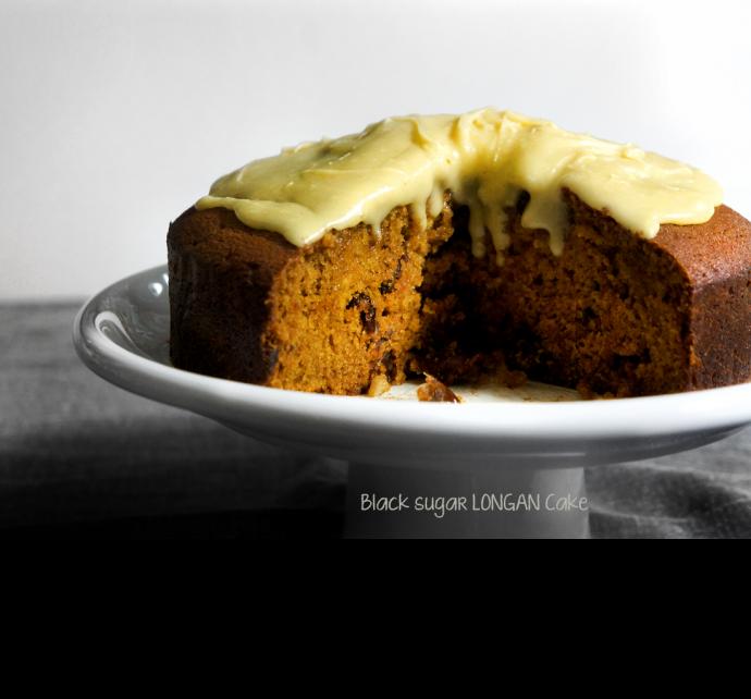 black sugar longan cake featured header