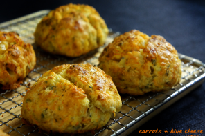 carrot blue cheese scone featured