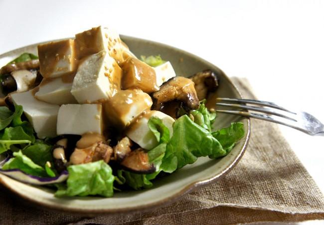 Tofu and Warm Mushroom Salad – Lady and Pups – an angry ...