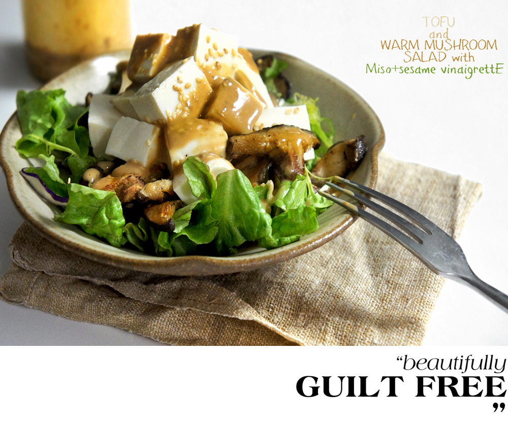 Tofu and Warm Mushroom Salad