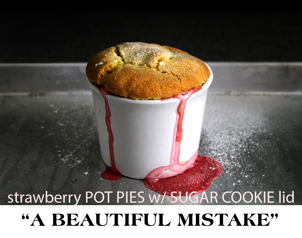 accidental strawberry pot pies