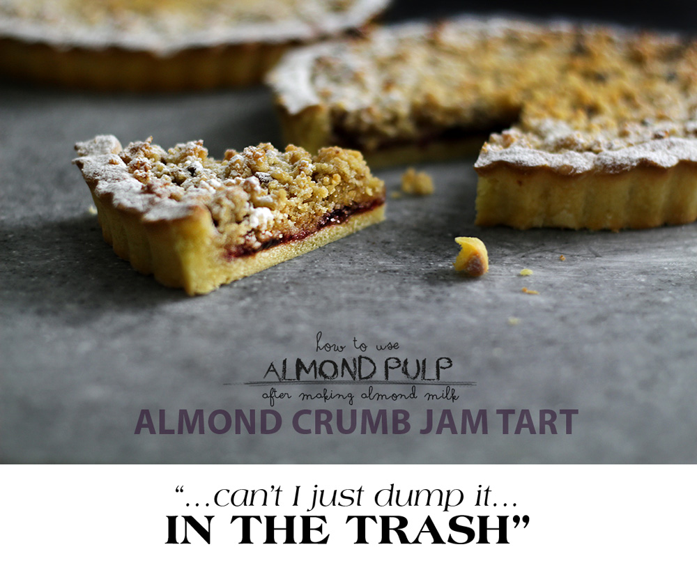 almond byproduct tart