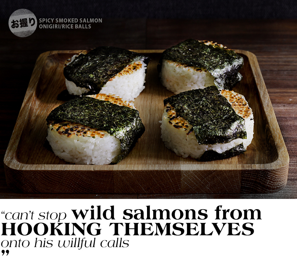 hypothetically wild salmon onigiri