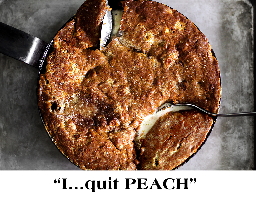 peach mascarpone pot pie + ginger molasses cookie lid