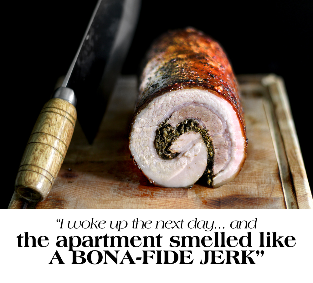X'MAS MORNING JERK-SPICED PORCHETTA