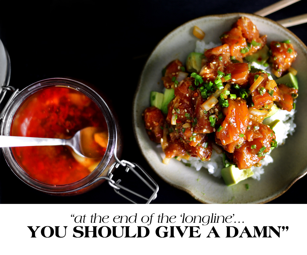 SALMON POKE-D YOU.  YOU SHOULD POKE BACK