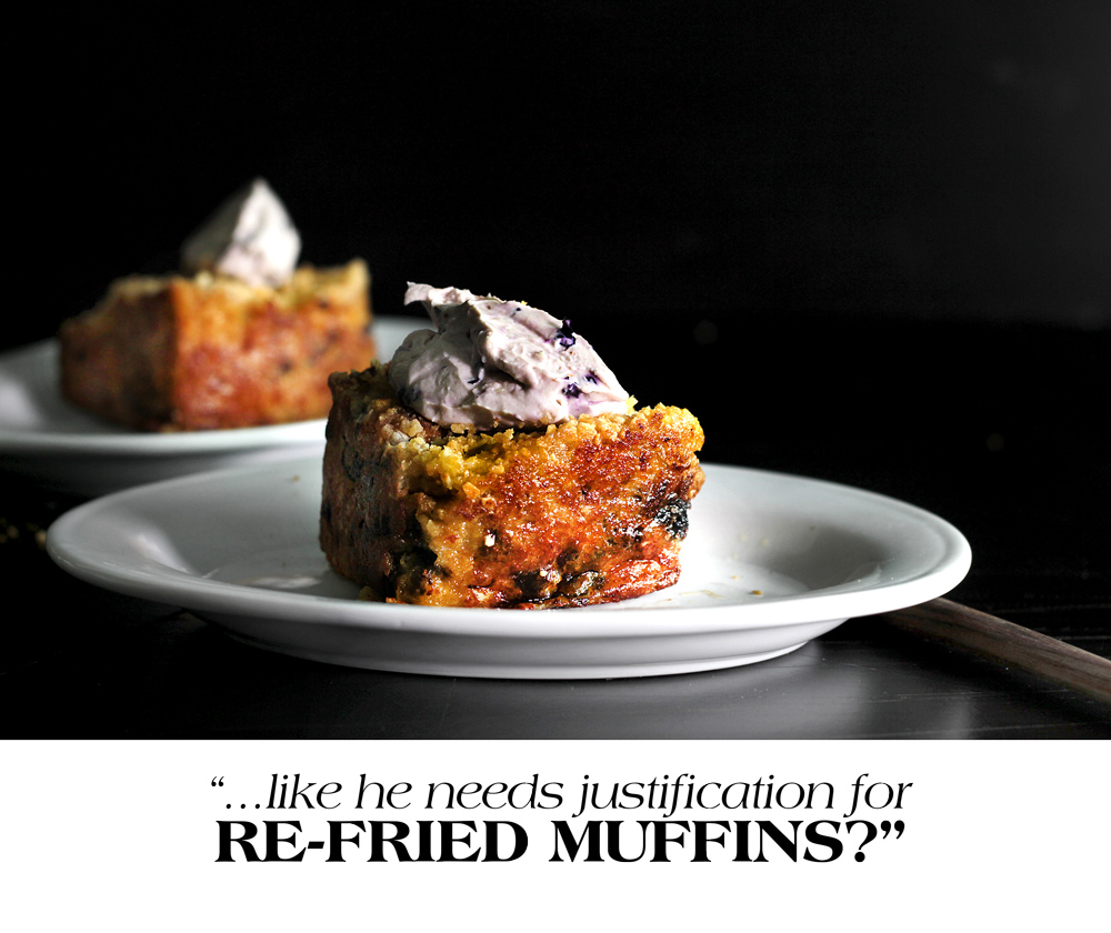 BLUEBERRY SLAB-MUFFIN FRENCH TOAST
