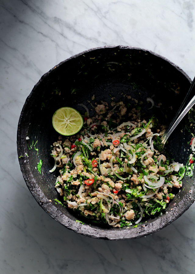 THAI HERBS AND PORK SALAD