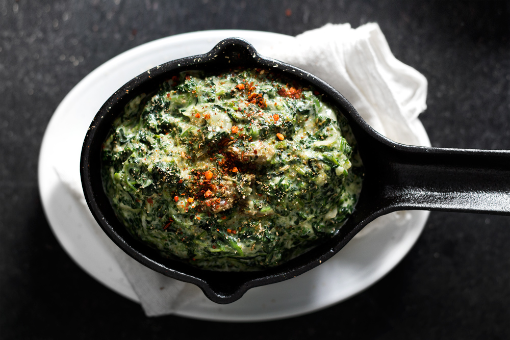 GARAM MASALA YOGURT-CREAMED SPINACH