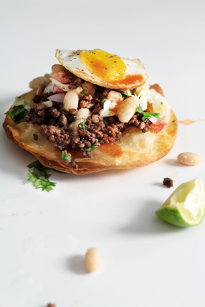 EASY MOLE-D BEEF TOSTADAS | Lady and Pups – an angry food blog