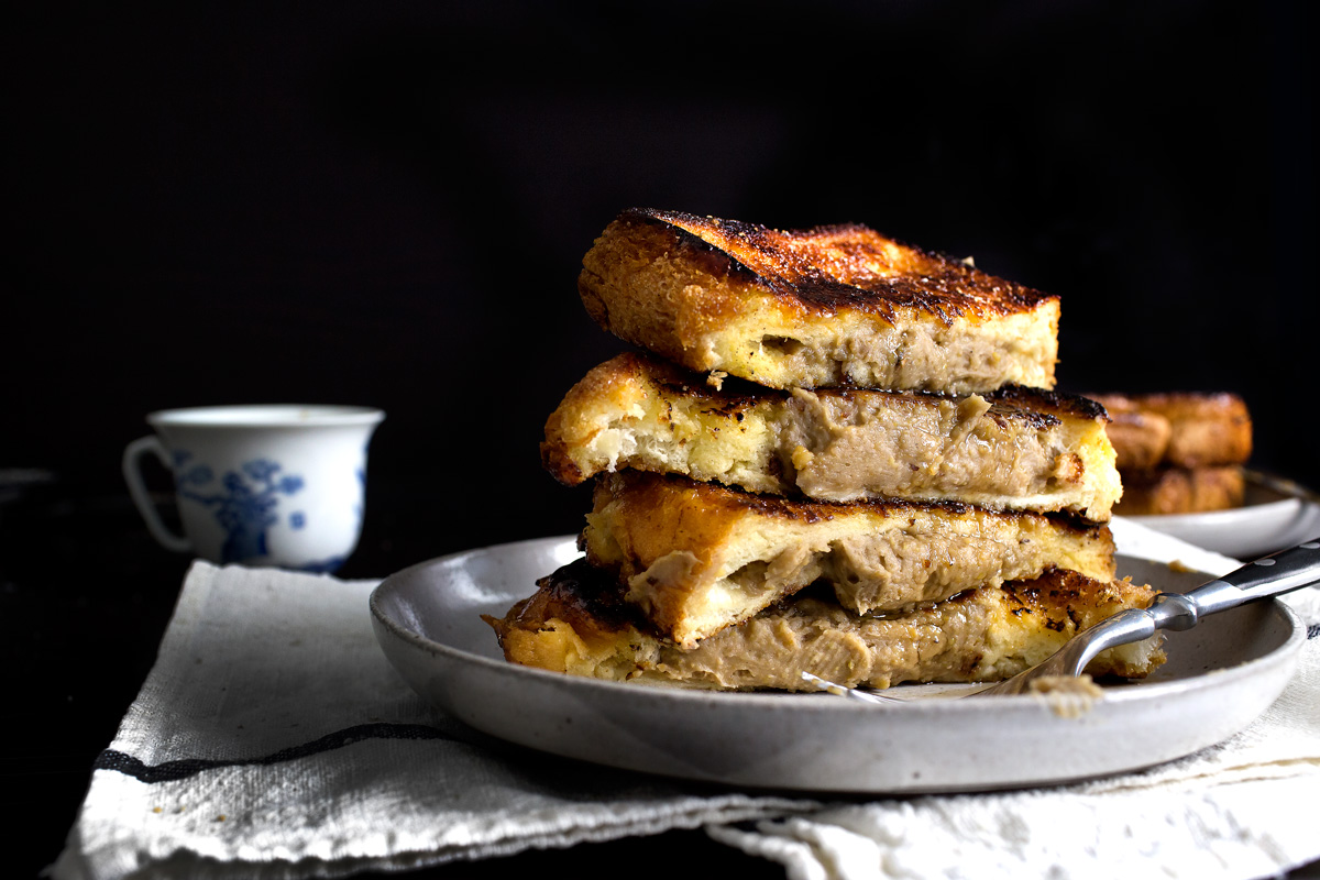 BRULEE FRENCH TOASTS STUFFED WITH CREAMY CHESTNUTS