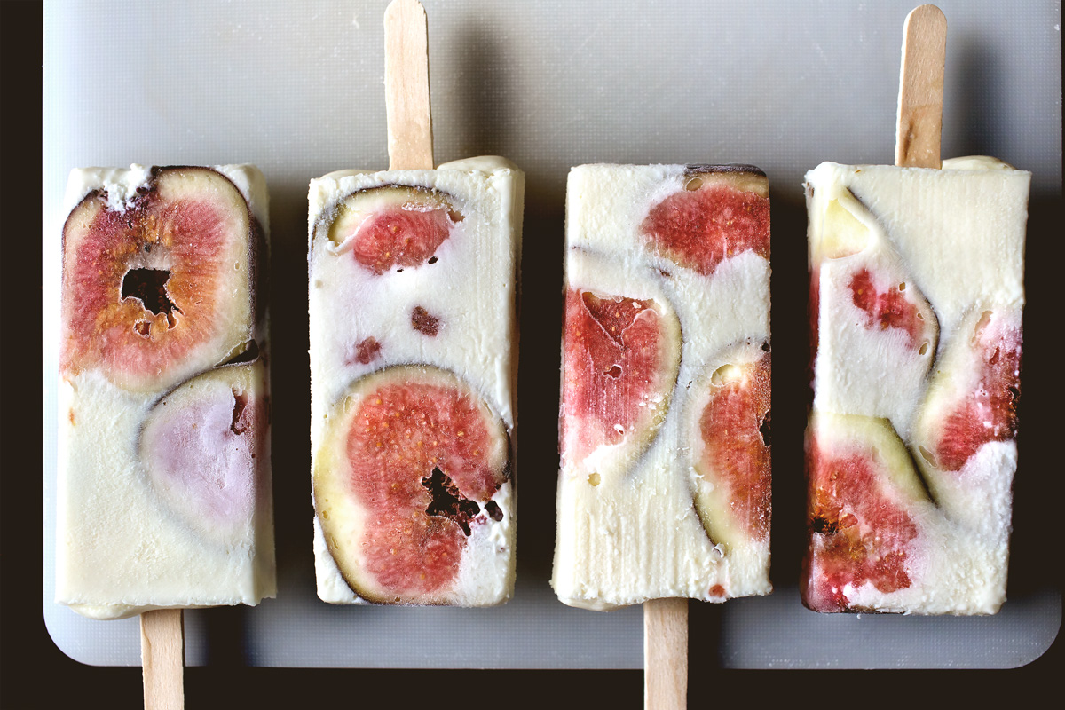 FIGS AND RICOTTA CHEESECAKE POPSICLE